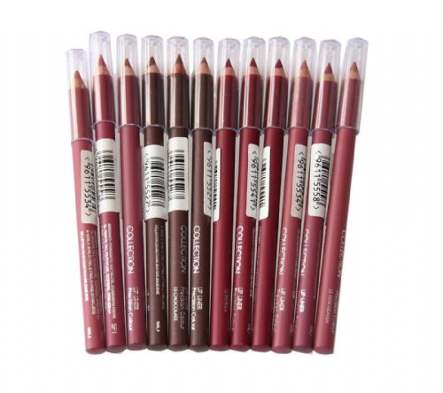 12 x Collection Precision Colour Lip Liner Pencils | 4 Shades